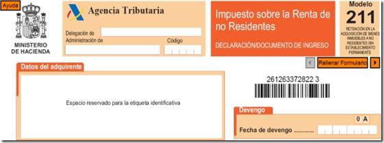 Modelo 211 para no residentes